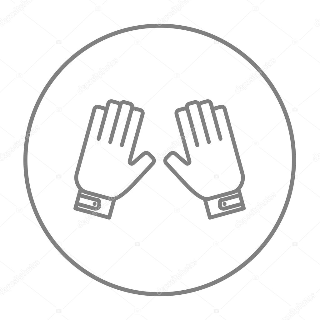 Motorcycle gloves thin - Motorcycle Gloves Line Icon For Web Mobile And Infographics Vector Grey Thin Line Icon In The Circle Isolated On White Background Vector By Rastudio