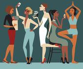 Stile di vita ragazze — Vettoriale Stock