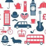 British symbols seamless pattern — Stock Vector #60266915