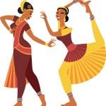Indian dancers — Stock Vector #60338573
