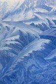 Frosty pattern on window — Stock Photo