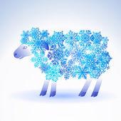 雪から羊 — ストックベクタ