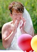 Ridendo sposa — Foto Stock