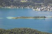 Panoramic View of Lake Worthersee — Stock Photo