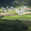 Tilt Shift Aerial View of Agricultural Fields — Stock Photo #53742005