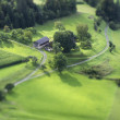 Tilt Shift Aerial View of Agricultural Fields — Stock Photo #53742705