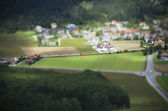 Tilt Shift Aerial View of Agricultural Fields — Stock Photo