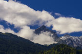 View of the Zugspitze, the highest mount of Germany — Stock Photo