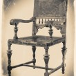 Old wooden chair in retro black and white colors — Stock Photo #52558597