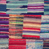 Traditional colorful rug textile — Stock Photo