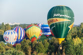 Minsk, Belarus. 13-September-2014: hot air baloon flying at the — Foto de Stock