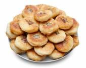 Homemade round meat pies — Stock Photo