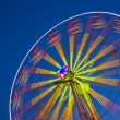 Ferris Wheel Carousel on a dark blue sky background. — Stock Photo #54458497