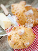 Wholemeal  french buns — Stock Photo