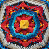 Knitted mandala closeup — Stok fotoğraf