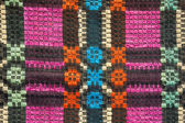 Texture of traditional colorful rug textile. Ethnic rustic carpe — Stock fotografie