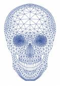 Skull with geometric pattern, vector — Stock Vector