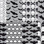 Skulls and bats, seamless pattern, vector — Stock Vector #54567581