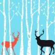 Reindeer Christmas card, vector — Stock Vector #56846913