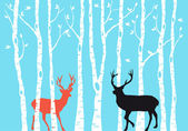 Reindeer Christmas card, vector — Stock Vector