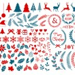 Christmas design elements, vector set — Stock Vector #58021985