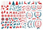 Christmas design elements, vector set — Stock Vector