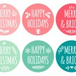 Christmas tags, vector set — Stock Vector #58508661
