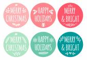 Christmas tags, vector set — Stok Vektör