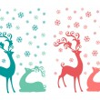 Christmas deer, vector set — Vetor de Stock  #58537509