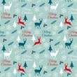 Seamless Christmas pattern, vector — Stock Vector #58973245