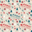 Seamless Christmas pattern, vector — Stock Vector #58973347