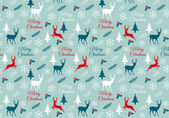 Seamless Christmas pattern, vector — Stock Vector