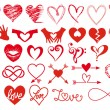 Heart designs, vector set — Stock Vector #62094785