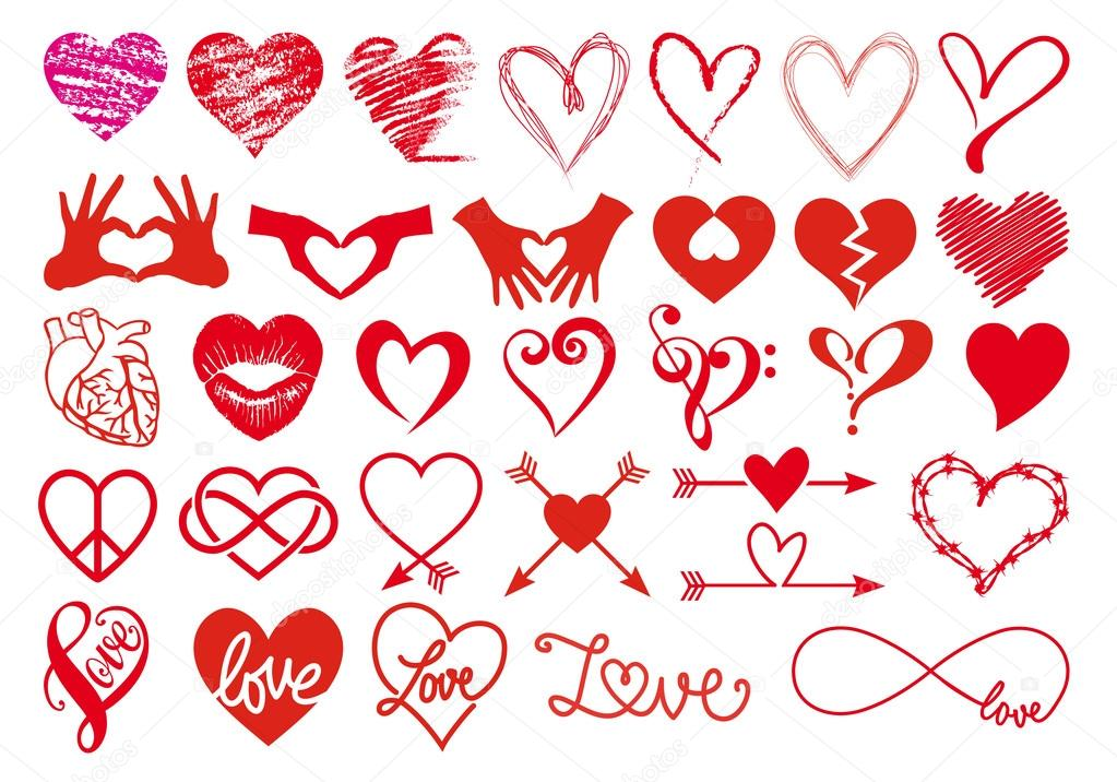 Heartbeat Pattern Heartbeat Vector Pattern Vector: Heart Designs, Vector Set