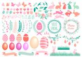 Happy Easter set, vector — Stock Vector