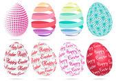 3D Easter eggs, vector set — Stock Vector