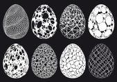 Abstract 3D Easter eggs, vector set — Stock Vector