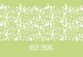 Hello spring, Easter banner, vector — Stock Vector
