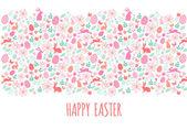 Happy Easter banner, vector — Stock Vector
