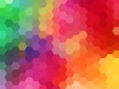 Abstract geometric vector background, hexagon — Stock Vector