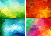 Abstract low poly backgrounds, vector set — Stock Vector