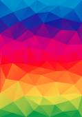 Abstract colorful low poly background, vector  — Stock Vector