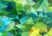 Abstract blue and green low poly background, vector — Stock Vector