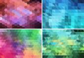 Abstract geometric background, vector set — Stock Vector