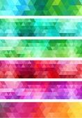 Abstract geometric banner background, vector set — Stock Vector