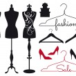 Fashion mannequins, vector set — Stock Vector #76225875