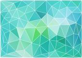Abstract teal low poly background, vector — Stock Vector