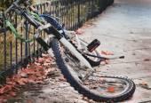 Abandoned bycicle — Stock Photo