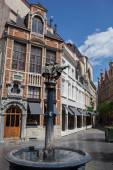 Street in center of Brussels, Belgium — Stock Photo
