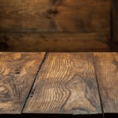 Empty old wooden table — Stock Photo
